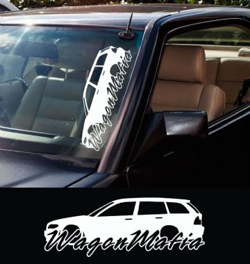 2x Large Wagon Mafia Bmw Bmw E46 3-series Touring Facelift car stickers / Decals